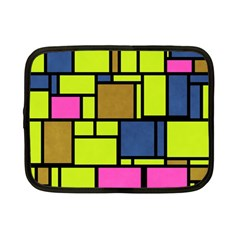Squares And Rectangles Netbook Case (small) by LalyLauraFLM