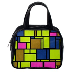 Squares And Rectangles Classic Handbag (one Side) by LalyLauraFLM