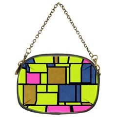 Squares And Rectangles Chain Purse (two Sides) by LalyLauraFLM