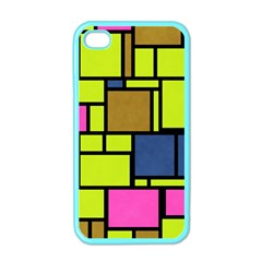 Squares And Rectangles Apple Iphone 4 Case (color) by LalyLauraFLM