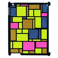 Squares And Rectangles Apple Ipad 2 Case (black) by LalyLauraFLM