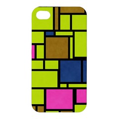 Squares And Rectangles Apple Iphone 4/4s Hardshell Case by LalyLauraFLM