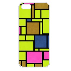 Squares And Rectangles Apple Iphone 5 Seamless Case (white) by LalyLauraFLM