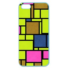 Squares And Rectangles Apple Seamless Iphone 5 Case (color) by LalyLauraFLM