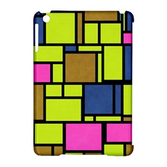 Squares And Rectangles Apple Ipad Mini Hardshell Case (compatible With Smart Cover) by LalyLauraFLM