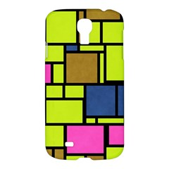Squares And Rectangles Samsung Galaxy S4 I9500/i9505 Hardshell Case by LalyLauraFLM