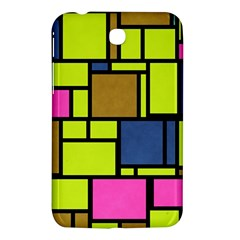 Squares And Rectangles Samsung Galaxy Tab 3 (7 ) P3200 Hardshell Case  by LalyLauraFLM