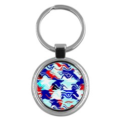 Wavy Chaos Key Chain (round) by LalyLauraFLM