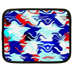 Wavy Chaos Netbook Case (xl) by LalyLauraFLM