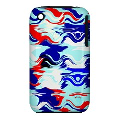 Wavy Chaos Apple Iphone 3g/3gs Hardshell Case (pc+silicone) by LalyLauraFLM