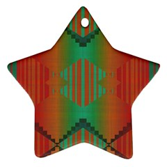 Striped Tribal Pattern Ornament (star) by LalyLauraFLM