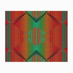 Striped Tribal Pattern Small Glasses Cloth (2 Sides) by LalyLauraFLM