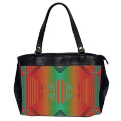 Striped Tribal Pattern Oversize Office Handbag (2 Sides) by LalyLauraFLM