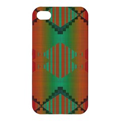 Striped Tribal Pattern Apple Iphone 4/4s Hardshell Case