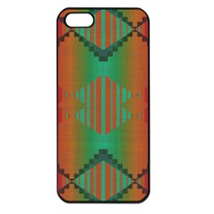 Striped Tribal Pattern Apple Iphone 5 Seamless Case (black) by LalyLauraFLM