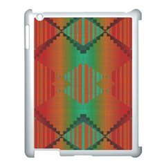 Striped Tribal Pattern Apple Ipad 3/4 Case (white) by LalyLauraFLM