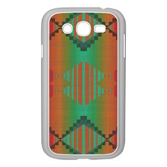 Striped Tribal Pattern Samsung Galaxy Grand Duos I9082 Case (white) by LalyLauraFLM