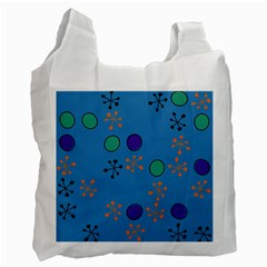 Circles And Snowflakes Recycle Bag (two Side) by LalyLauraFLM