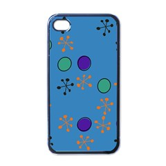 Circles And Snowflakes Apple Iphone 4 Case (black) by LalyLauraFLM