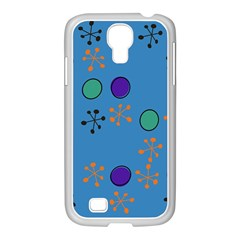 Circles And Snowflakes Samsung Galaxy S4 I9500/ I9505 Case (white) by LalyLauraFLM
