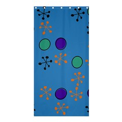 Circles And Snowflakes	shower Curtain 36  X 72  by LalyLauraFLM