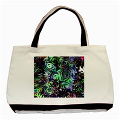 Colour Play Flowers Basic Tote Bag  by InsanityExpressedSuperStore