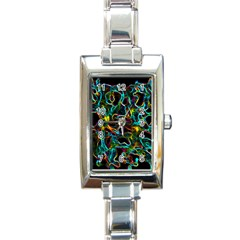 Soul Colour Rectangle Italian Charm Watches by InsanityExpressedSuperStore