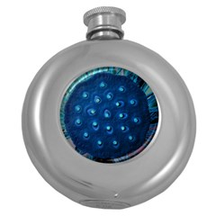 Blue Plant Round Hip Flask (5 Oz) by InsanityExpressedSuperStore