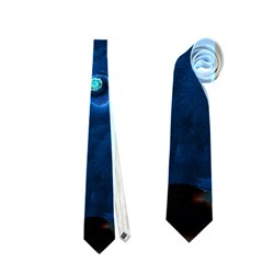 Blue Plant Neckties (two Side)  by InsanityExpressedSuperStore