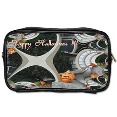Creepy Pumpkin Fractal Toiletries Bags 2 Side by gothicandhalloweenstore