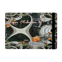 Creepy Pumpkin Fractal Apple Ipad Mini Flip Case by gothicandhalloweenstore
