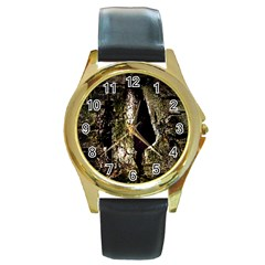 A Deeper Look Round Gold Metal Watches