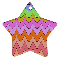 Pastel Waves Pattern Ornament (star) by LalyLauraFLM