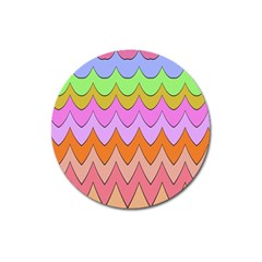 Pastel Waves Pattern Magnet 3  (round) by LalyLauraFLM