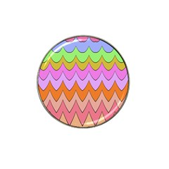 Pastel Waves Pattern Hat Clip Ball Marker (10 Pack) by LalyLauraFLM