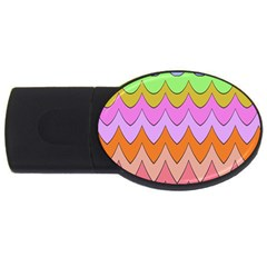 Pastel Waves Pattern Usb Flash Drive Oval (4 Gb) by LalyLauraFLM