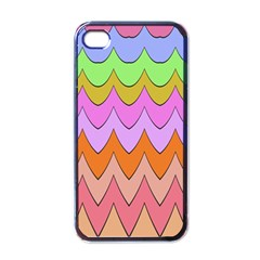 Pastel Waves Pattern Apple Iphone 4 Case (black) by LalyLauraFLM