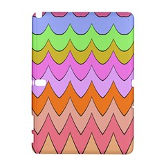 Pastel Waves Pattern Samsung Galaxy Note 10 1 (p600) Hardshell Case by LalyLauraFLM