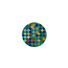 Rhombus Pattern In Retro Colors 1  Mini Magnet by LalyLauraFLM