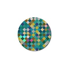 Rhombus Pattern In Retro Colors Golf Ball Marker (4 Pack) by LalyLauraFLM