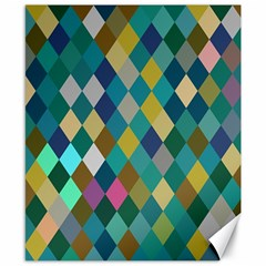 Rhombus Pattern In Retro Colors Canvas 8  X 10  by LalyLauraFLM