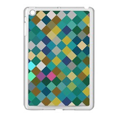 Rhombus Pattern In Retro Colors Apple Ipad Mini Case (white) by LalyLauraFLM
