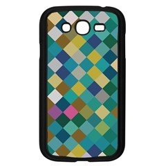 Rhombus Pattern In Retro Colors Samsung Galaxy Grand Duos I9082 Case (black)