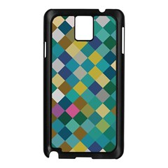 Rhombus Pattern In Retro Colors Samsung Galaxy Note 3 N9005 Case (black) by LalyLauraFLM