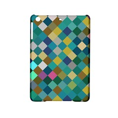 Rhombus Pattern In Retro Colors Apple Ipad Mini 2 Hardshell Case by LalyLauraFLM