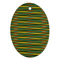 Diagonal Stripes Pattern Ornament (oval) by LalyLauraFLM