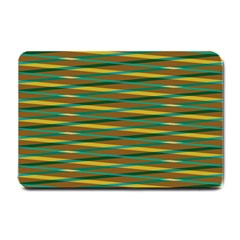 Diagonal Stripes Pattern Small Doormat by LalyLauraFLM