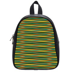 Diagonal Stripes Pattern School Bag (small) by LalyLauraFLM