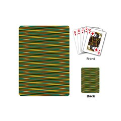 Diagonal Stripes Pattern Playing Cards (mini) by LalyLauraFLM