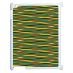Diagonal Stripes Pattern Apple Ipad 2 Case (white) by LalyLauraFLM